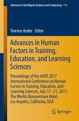 Advances in Human Factors in Training, Education, and Learning Sciences image
