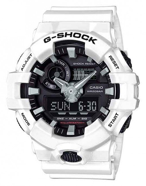 Casio G-Shock White Analogue/Digital Mens Watch GA700-7A GA-700-7A