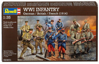 Revell: 1/35 WWI German, French, British Infantry - Model Set
