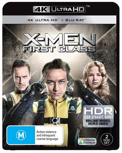 X-men: First Class on Blu-ray, UHD Blu-ray image