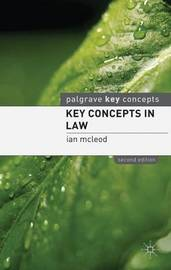 Key Concepts in Law by Ian McLeod image