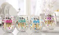Stemless Wine Glass - Birthday Design (The Big Three Oh)