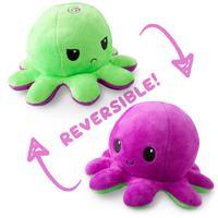 TeeTurtle: Reversible Mini Plush - Octopus (Green/Purple)