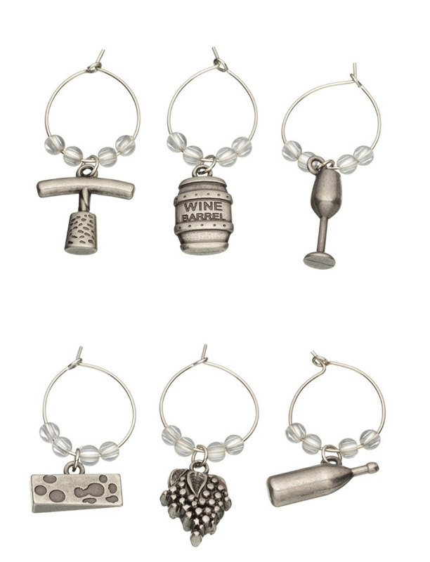 BarCraft: Wine Charms Set - Gift Boxed (6pc)
