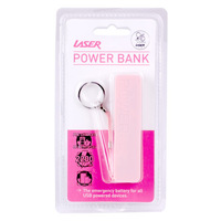 Laser 2200mAh Emergency Power Bank - Pink image