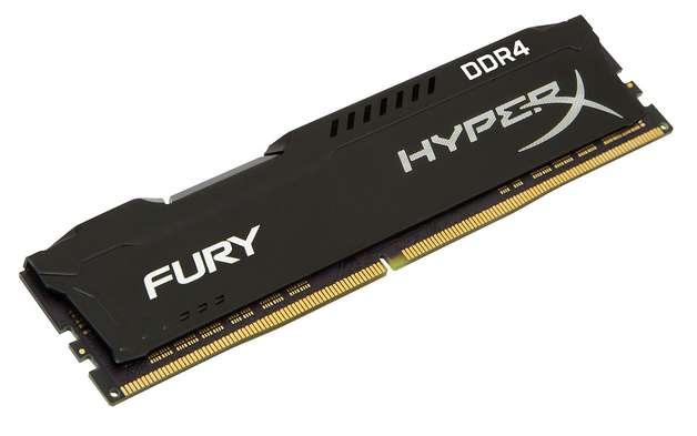16GB Kingston Hyperx Fury 2400Mhz DDR4 CL15 Dimm Single - Black