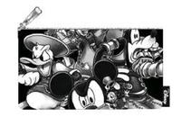 Loungefly: Kingdom Hearts - Black & White Pencil Case