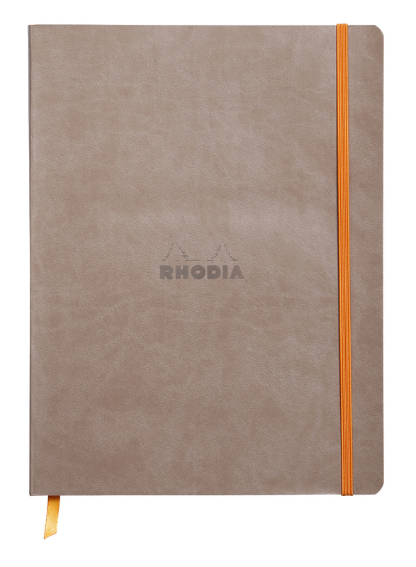 Rhodiarama 19x25cm Softcover Notebook Lined - Taupe