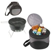 2 in 1 Portable Charcoal BBQ Grill with Cooler Bag