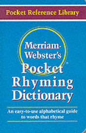 Pocket Rhyming Dictionary by Merriam Webster