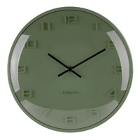 Karlsson Wall Clock - Elevated (Pine Green)