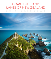 Coastlines & Lakes of New Zealand 2019 Deluxe Wall Calendar