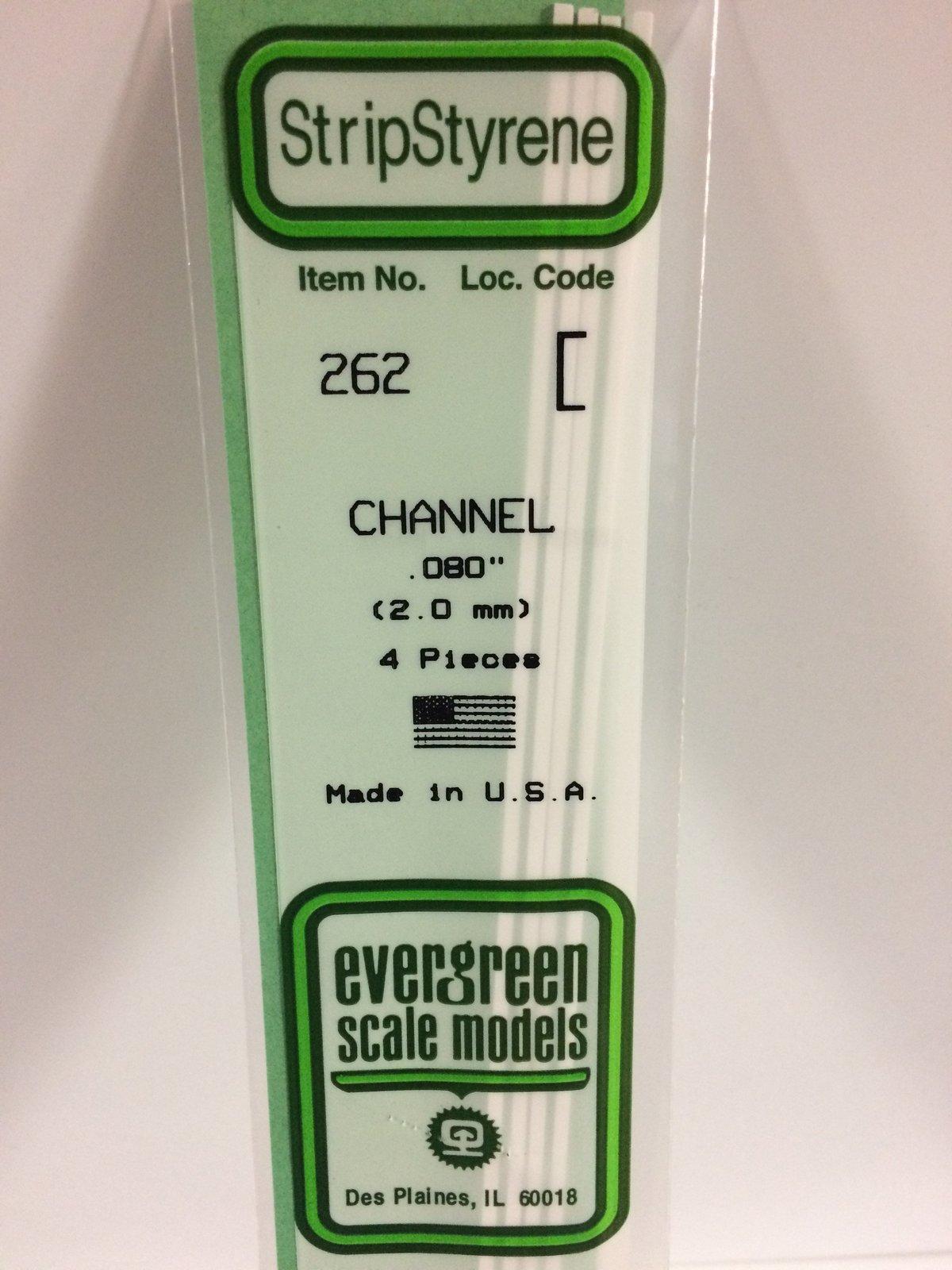 Evergreen Styrene Channel 35cm Long X 2 mm (4) image