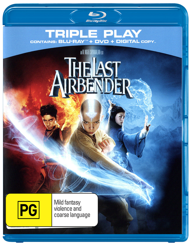The Last Airbender (Triple Play) on DVD, Blu-ray, DC