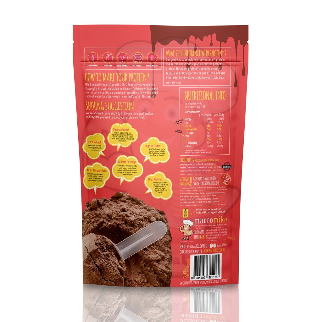 Macro Mike Plant Protein Powder - Chocolate Peanut Butter (1kg) image