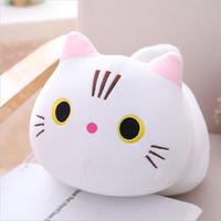 Chubby Cat Plush - White (35cm)
