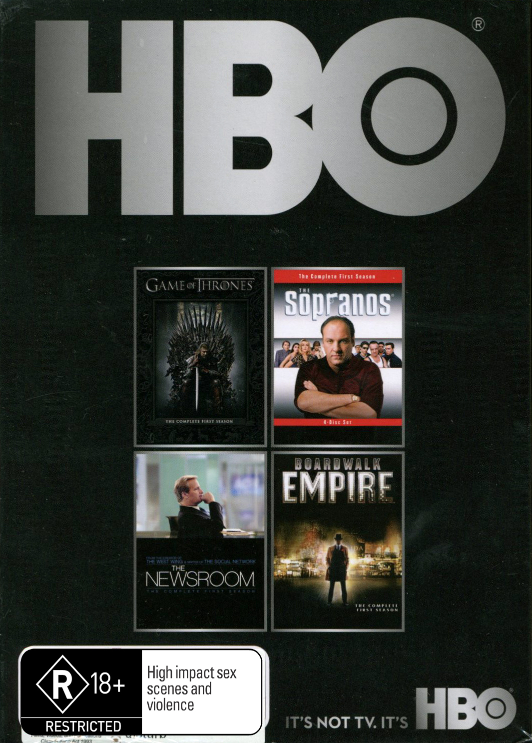 HBO Starter Box Set - Game of Thrones / Boardwalk Empire / The Newsroom / The Sopranos on DVD image