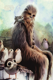 Star Wars Chewie And Porgs Maxi Poster (829)