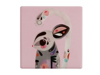 Maxwell & Williams: Pete Cromer Ceramic Square Tile Coaster - Sugar Glider (9.5cm)