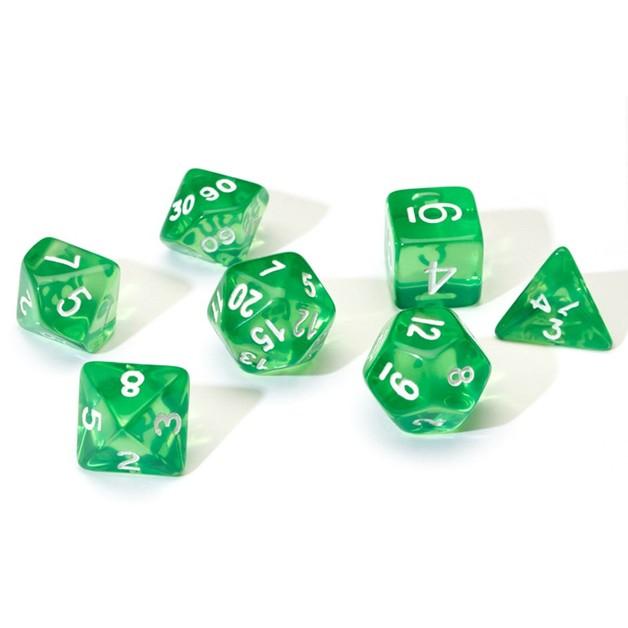Sirius Dice: Polyhedral Dice Set - Translucent Green