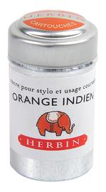 J Herbin: Tin of 6 Universal Cartridges - Orange Indien