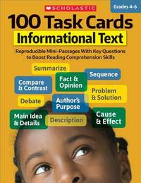 100 Task Cards: Informational Text by Scholastic Teaching Resources
