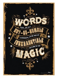 Harry Potter: Magic Words - MightyPrint Wall Art