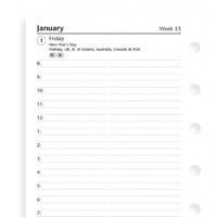Filofax Pocket Refill - Day per page English appointments lined (2018)