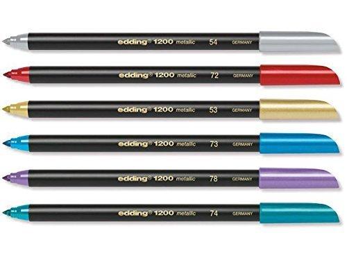 Edding: Metallic Pen Set (6)
