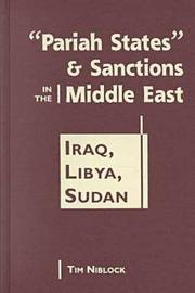 """Pariah States"""" and Sanctions in the Middle East by Timothy Niblock image"""