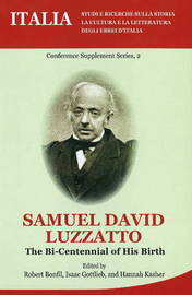 Samuel David Luzzato: The Bi-Centennial of His Birth image