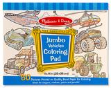 Melissa & Doug: Jumbo Vehicles Colouring Pad