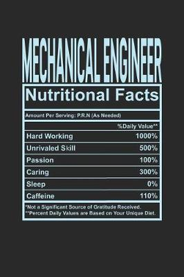 Mechanical Engineer Nutritional Facts by Dennex Publishing
