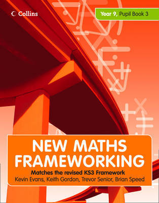 New Maths Frameworking Year 9: Book 3: Pupil by Gordon Evans image