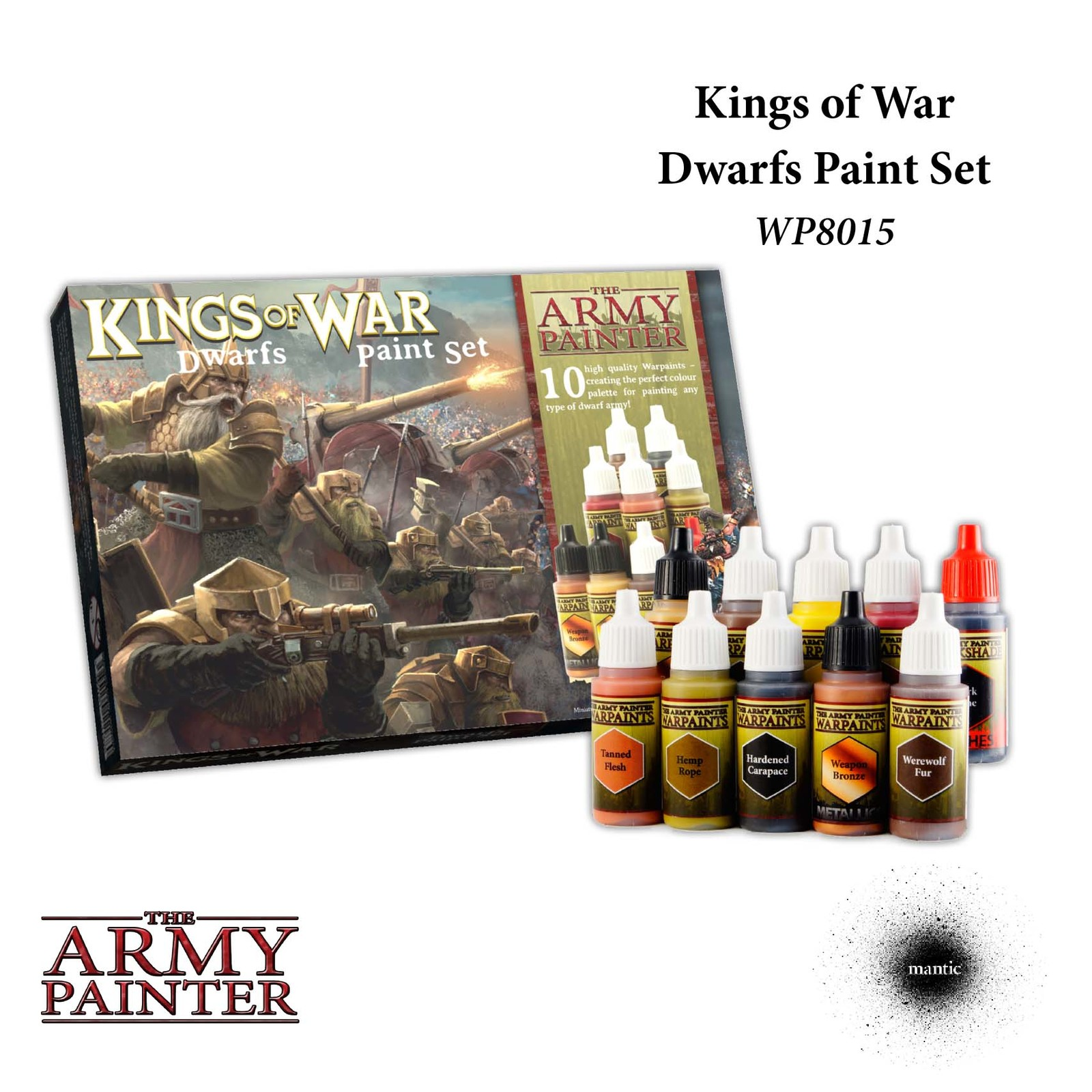 Army Painter Warpaints Kings of War Dwarfs Paint Set image