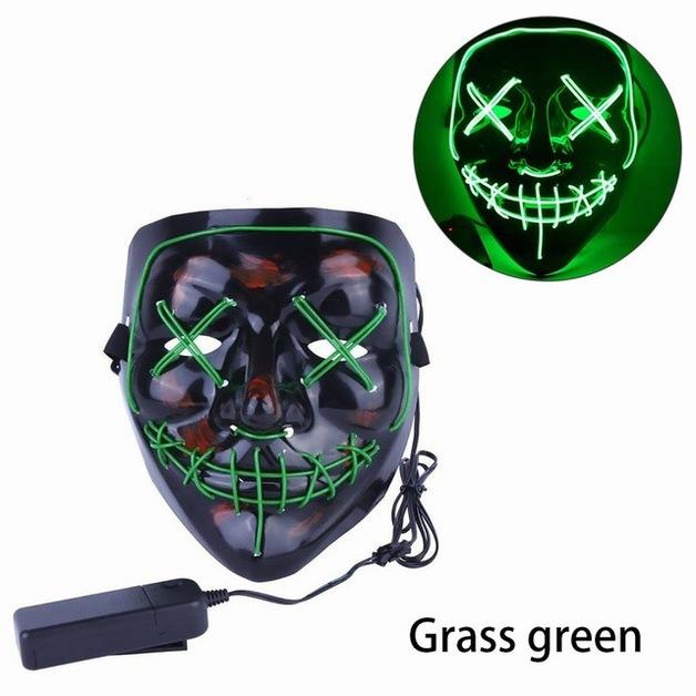 Halloween Mask LED Light up Mask for Festival Cosplay