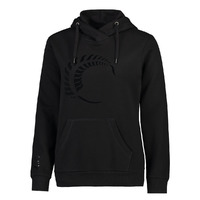 Silver Ferns Womens Graphic Hoodie- Black (Small)