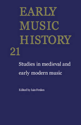 Early Music History: Volume 21 image