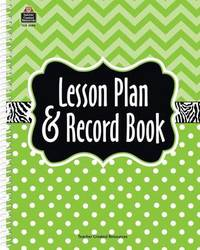 Lime Chevron and Dots Lesson Plan & Record Book by Teacher Created Resources image