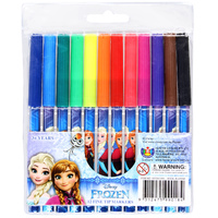 Frozen Fine Tip Markers - 12 Pack