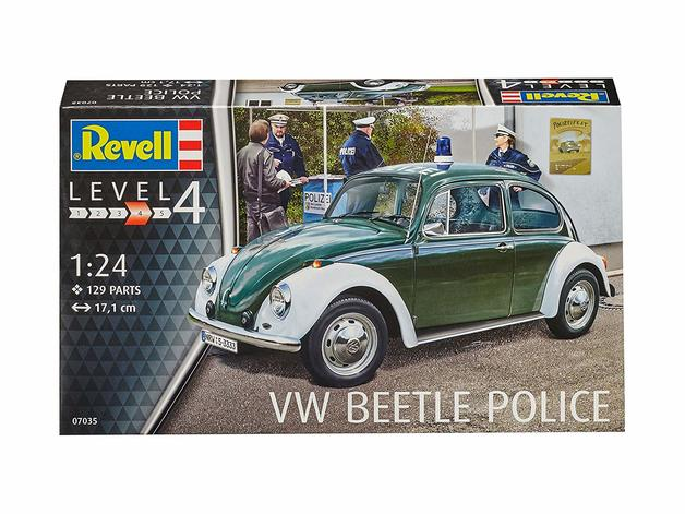 "Revell 1:24 VW Beetle ""Police"" Plastic Model Kit"