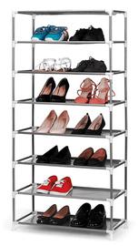 Ovela: Stackable Shoe and Storage Rack - Black