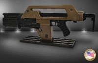 Aliens - M41A1 Pulse Rifle (Weathered) - Prop Replica image