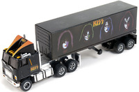 Auto World Racing Rigs '74 GMC Astro 95 with Kiss Trailer Slot Car - Black