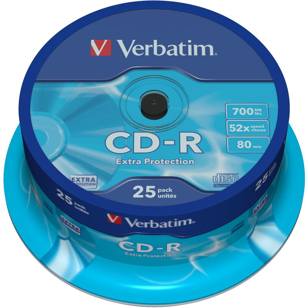 Verbatim CD-R 700MB 25Pk Spindle 52x image