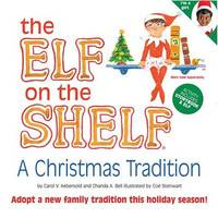 The Elf on the Shelf Girl Dark Doll with Book: A Christmas Tradition by Carol V Aebersold