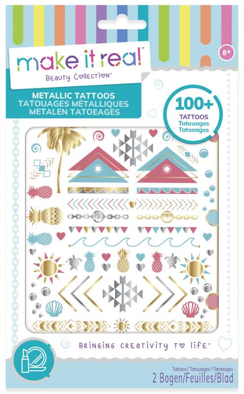 Make It Real: Metallic Tattoos - Blue