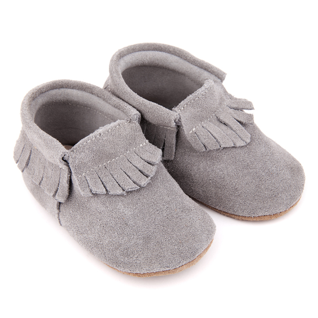 Skeanie: Pre-Walker Moccasins Grey - Medium