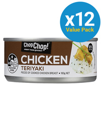 Chop Chop: Chicken Chunks - Teriyaki 160g (12 Pack)
