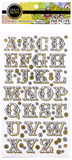 Craft Smith Stickers Alphabet Black/Gold